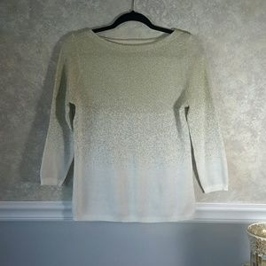 RUBY RD | Gold Ombre Gradient Sweater
